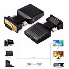 VGA Male to HDMI Female Converter Adapter with Audio Input 1080P For PC Laptop