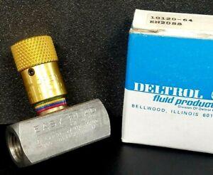 Deltrol EN20SS Flow Control Needle Valve New 1/4 NPT Easy Read pneumatic air