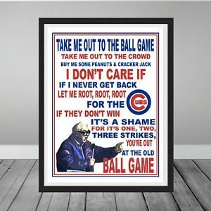 Chicago Cubs Harry Caray 7th Inning Stretch Take Me Out Ball Game Wrigley Gift