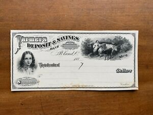 Farmers Deposit & Savings Poland OH American Bank Note Co NY 1880s proof check
