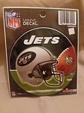 NFL NEW YORK JETS WINDOW DECAL VINYL DIE-CUT ROUND NEW !