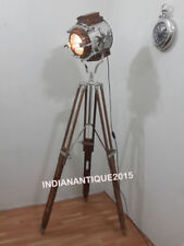 Nautical Designer Collectible Wooden Spot Search light Floor Lamp With Stand