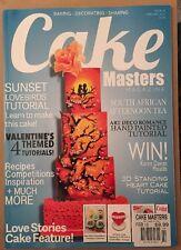 Cake Masters Magazine Sunset Lovebirds Tutorial Art Deco Feb 2015 FREE SHIPPING!