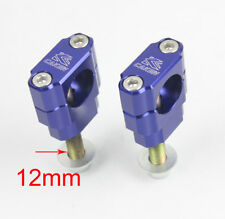 Blue 28MM CNC Handle Bar Clamps Risers For Yamaha YZ85 125 250 450 WR Dirt Bike