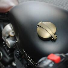 Messing finish Aluminium Tankdeckel im Retro Monza Style für Harley und Triumph