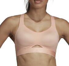 adidas Stronger For It Soft Womens Sports Bra - Pink