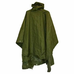 BRITISH ARMY STYLE NYLON WATERPROOF PONCHO - OLIVE GREEN