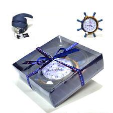 Set Cintura Uomo Orologio da tavolo Idea Confezione Regalo Armata di mare Blu