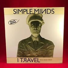 "SIMPLE MINDS I Travel 1980 French issue 12"" Vinyl Single EXCELLENT CONDITION"