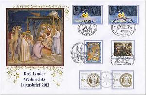 Luxusbrief Weihnachten aus 3 Ländern - Deutschland/Österreich/Liechtenstein