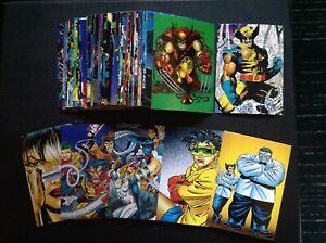 1992 MARVEL WOLVERINE COMIC TRADING CARD BASE SET , X MEN