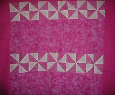 PINWHEEL Quilt Top in Pink Cotton