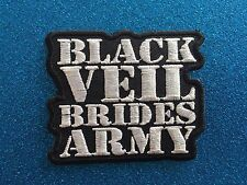 BLACK VEIL ARMY Bride Punk Gothic Grunge  Stitched Iron ON Patch Patches