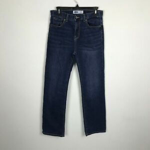 Old Navy Boys Youth Jeans Size 16 Adjustable Waist Blue Straight Built In Flex