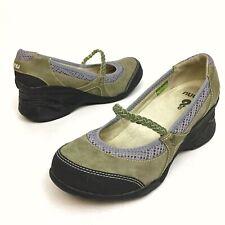 Ahnu Olivia Women's Shoes Mary Jane's Sport Wedge Vibram Comfort Olive 7 EU37.5
