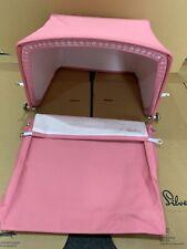 Silver Cross Dolls Oberon Coach Pram Hood and Apron Rose Pink Pink Interior  NEW