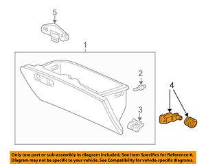 HONDA OEM Glove Compartment Box-Arm 77508SX0000