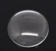 2x cabochon vetro 30 mm pietra ADESIVA ROTONDO CHIARO
