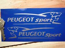 "Peugeot Sport León Corte Vinilo carrera de coches Rally pegatinas 6 ""par 106 206 Gti 207 307"