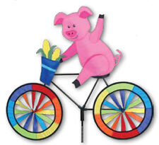 Pig on a Bicycle Staked Wind Spinner 24- Pr 26716
