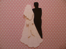 BEAUTIFUL 3D BRIDE AND GROOM DIE CUTS FOR WEDDING INVITATIONS AND CARD TOPPERS
