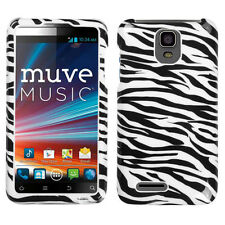 For Cricket ZTE Engage LT N8000 HARD Protector Case Snap On Phone Cover Zebra