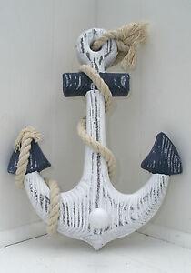 Anchor Hook Chic & Shabby Sweet Pretty Bathroom Coastal Wooden