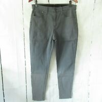 New H By Halston High Rise Skinny Jeans 14 Gray Ankle Crop Ombre QVC Plus Size