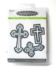 Darice Metal Dies ORNATE CROSS 3pc Die Cut Embossing Stencil 2014-88