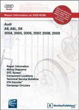 AUDI A8 SHOP MANUAL SERVICE REPAIR A8L S8 QUATTRO BENTLEY DVD 2004-2009 DISC