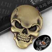 Motorcycle Body Tank Skull Demon Bone Badge Emblem Metal Bronze Sticker For KTM