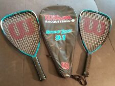 (Lot Of 2) Wilson-Racquetball-Racket -Strike-Zone-9-5-With-Case