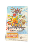 POKEMON Mystery Dungeon Promotional Game Stop Display Card Rare 3x5 VHTF Promo