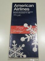 American Airlines Timetable  December 17, 1986 =