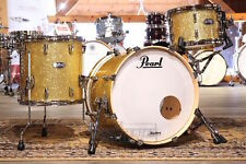 Pearl Masters Maple Complete 3pc Drum Set 20/12/14 Bombay Gold Sparkle Lacquer -