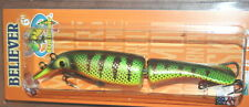 "6"" Believer Jointed Drifter Tackle Musky Pike Lure Crankbait Fire Perch 600J-63"