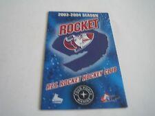 2003/04 QMJHL P.E.I. ROCKET POCKET SCHEDULE***MOOSE LIGHT***