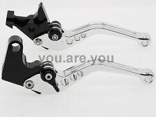 For Yamaha Virago XV 250 535 750 1100 Regular Short Clutch Brake Levers Silver