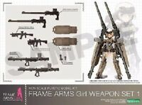 FRAME ARMS GIRL WEAPON SET 1 Plastic Model Kit KOTOBUKIYA NEW from Japan F/S
