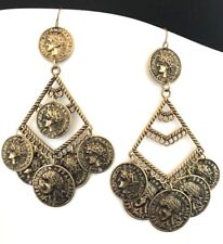 Designer Statement Earrings Simulated Coins Premier Fashion Jewelry  3C