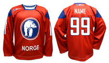 Team Norway Norge 2011 Red Ice Hockey Jersey Custom Name and Number