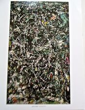 Jackson Pollock Full Fathom Five Poster 1947 Offset Lithograph Unsigned 14x11