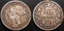 Royaume-Uni - Victoria - 6 pence 1880 argent - KM#751.2