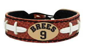 Drew Brees Jersey #9 New Orleans Saints Bracelet NFL Genuine Football Material