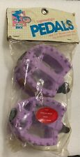 "NOS Purple/lavender Bikeway Freestyle 80s Old School BMX 1/2"" Chromoly Pedals GT"