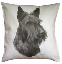 Scottish Terrier Scottie MS Breed of Dog Cotton Cushion Cover - Perfect Gift