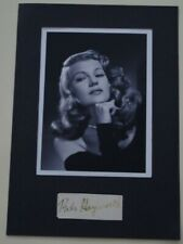 Rita Hayworth   Hand Signed page cut autographed