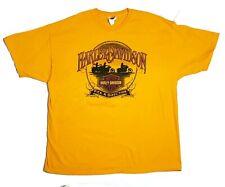 HARLEY DAVIDSON Short Sleeve Shirt Yellow Oranjestad Aruba Men's Size XXL