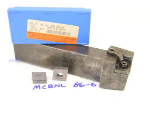 """USED CARBOLOY MCBNL 86-6 TURNING TOOL HOLDER (1"""" x 1.50"""" ) WITH 10PCS. INSERTS"""