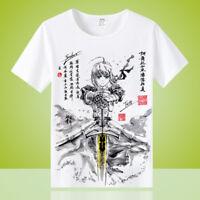 Anime Fate Grand Order Unisex Cool Otaku Casual T-shirt Tops Tee Short Sleeve